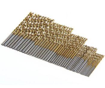 Pack of 50 HSS Titanium Coated Drill bits